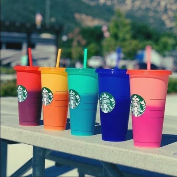 BOX! Starbucks Color Changing Reusable Col…